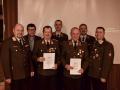 Ehrung von E-OBI Leopold Mayrhofer und August Mühlberger für 50-jährige Mitgliedschaft
